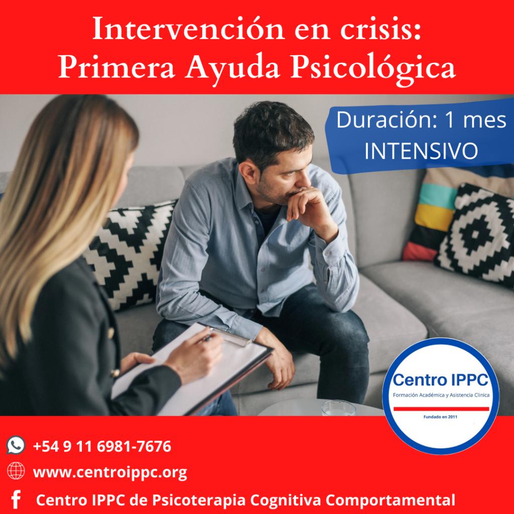 Intervención en Crisis: Primera Ayuda Psicológica